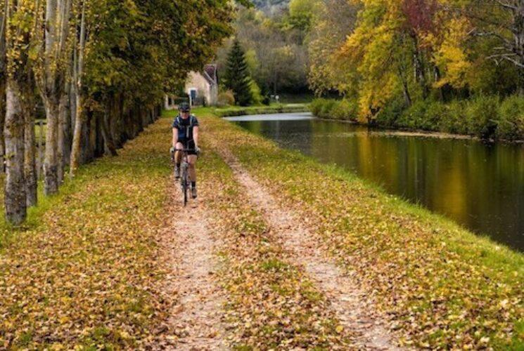 France Burgundy boat and bike